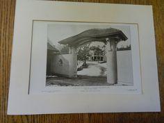 Stable Gateway: Estate C.S. Houghton,ESQ.,Newton,MA,1905,Lithograph. Chapman & Frazer.