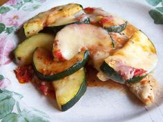 Chicken with Zucchini and Tomato, easy taster oven lunch