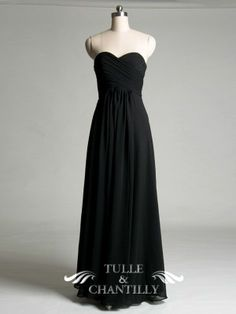 Fall Wedding Ideas - Sweetheart A-line Black Bridesmaid Dress