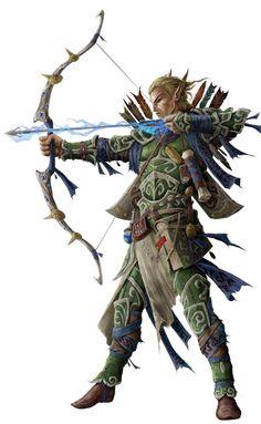 Varik and his Magic Bow & Arrows Pathfinder Arcane Archer