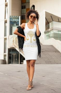 Looking for a cute tank dress? Why not drop by our shop to get your own paralegal tank dress now? Get through this with a nifty new sleeveless tank dress that you can't get anywhere else! Love Fashion, Spring Fashion, Paralegal, Tank Dress, White Dress, Lawyer, Sporty, Nifty, Chic