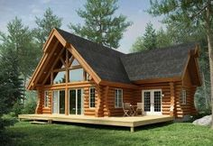 Looking for a Maison Bois Rond Patriote. We have Maison Bois Rond Patriote and the other about Maison Interieur it free. Modern Tiny House, Tiny House Cabin, Log Cabin Homes, Cottage Homes, Wood House Design, Cabin Design, Wooden Cottage, Wooden House, Log Homes Exterior