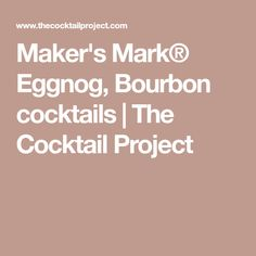 Get ready to learn how to mix this refreshing Makers Mark Collins cocktail recipe from The Cocktail Project. Browse our cocktail recipes and learn to mix the perfect Makers Mark Collins. Eggnog Cocktail, Bourbon Recipes, Bourbon Cocktails, Cocktail Recipes, Drink Recipes, Bourbon Whiskey, Party Drinks Alcohol, Fun Drinks, Bourbon
