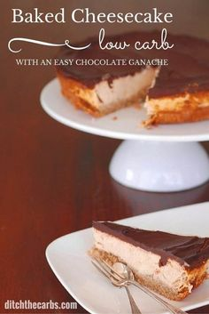 A New York style low carb baked cheesecake but is low carb, grain free and no sugars - incredible and such a simple recipe. | ditchthecarbs.com