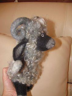 Перчаточная кукла - Барашек Бяша - серый Glove Puppets, Needle Felting, Felt, Felting