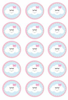 Vera Raupp's media content and analytics Girl Birthday Themes, Girl Themes, 1st Birthday Parties, Birthday Decorations, Party Kit, Baby Party, Cloud Party, Baby Shower Clipart, Baby Shawer
