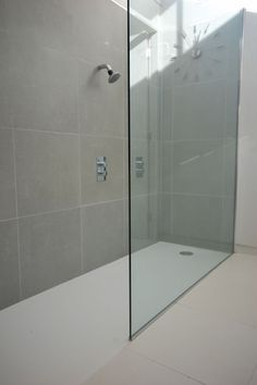 Bespoke shower trays and screens Shower Trays, Shower Screen, Corian, Modern House Design, Screens, Bespoke, Bathrooms, Bathtub, Shelves