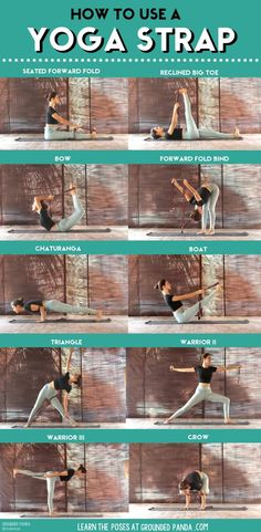 A yoga strap can be a very handy tool for advancing your yoga practice as a beginner. Here are 18 yoga stretches to use with a yoga strap! I Love Yoga Yoga Meditation, Yoga Régénérateur, Yoga Moves, Yoga Workouts, Vinyasa Yoga, Yoga Exercises, Dance Stretches, Pilates Yoga, Pilates Reformer