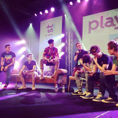 Performing on the main stage at Playlist Live with the crew!