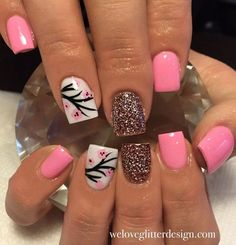 52 Ideas for pedicure toenails summer spring nails Diy Nails, Cute Nails, Pretty Nails, Smart Nails, Manicure Natural, Do It Yourself Nails, Cherry Blossom Nails, Cherry Blossoms, Nagellack Design