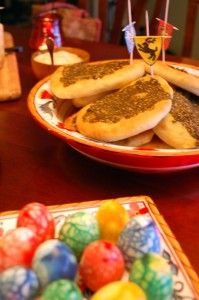 Zaatar bread (from Dorne), dragon eggs, and house banners