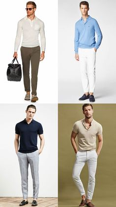 Men's Polo Shirts Riviera Style Outfits Lookbook Inspiration