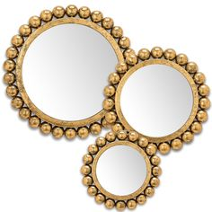 Set 3 Gold Metal Iron Ball Edge Assorted Wall Art Mirror Gold Decor ** Read more at the image link. (This is an affiliate link) Mirror Photo Frames, Mirror Wall Art, Wall Mounted Mirror, Mirror Mirror, Smoke And Mirrors, Home Decor Store, Metal, Iron, Gold