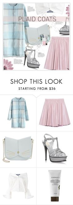"""""""Plaid Coat"""" by stranjakivana ❤ liked on Polyvore featuring Chicwish, 2NDDAY, Ted Baker, Yves Saint Laurent, Jacquemus, The Hand & Foot Spa, polyvoreeditorial and plaidcoats"""