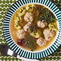 Mixed-Greens And Sausage Soup With Cornmeal Dumplings Recipe ...