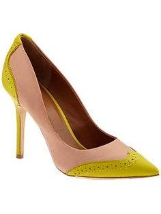 Need to look professional and want a pop of color? These Rachel Roy pumps will do!