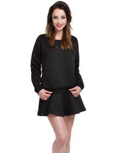 Black Quilted Jumper/Skirt