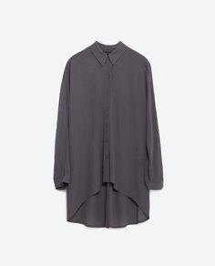 Image 8 of ASYMMETRIC HEM OVERSIZED SHIRT from Zara