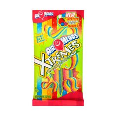 AirHeads Xtremes Sweetly Sour Candy, 4.5 oz: Snacks, Cookies & Chips :... ❤ liked on Polyvore featuring food, food and drink, food & drink, food // drinks, candy and fillers