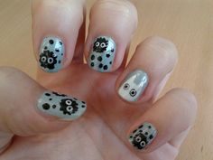 soot babies!!! My Neighbor Totoro | Community Post: 10 Examples Of Geektastic Nail Art