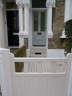 Classic Victorian Front Garden Design Battersea Clapham Balham London – London G… Victorian Front Garden, Porch Trees, Japanese Plants, Planting Plan, London Garden, Outdoor Spaces, Outdoor Decor, Garden Pool, Modern Landscaping