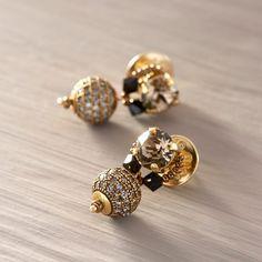 Moja po prostu. Bransoletka z szarymi kryształami - CALEIDOSCOPIO - Kate&Kate Contemporary Classic, Contemporary Design, Jewelry Accessories, Stud Earrings, Stylish, Gold, Jewelry Findings, Studs, Stud Earring