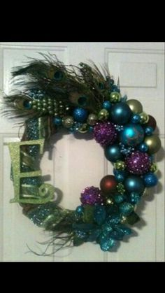 Peacock wreath--You need to do this!!