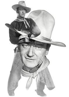 Nostalgic Art - The Duke John Wayne Fine Art Prints, Canvas Prints, Framed Prints, Nostalgic Art, John Wayne, Hollywood Stars, Unique Art, Fine Art America, Original Artwork