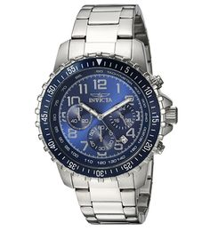 Invicta 6621 II Men's Collection Chronograph Blue Dial Watch Review Mens Watches Under 100, Watches For Men, Men's Watches, Men's Collection, Omega Watch, Chronograph, Blue, Accessories, Jewelry Accessories