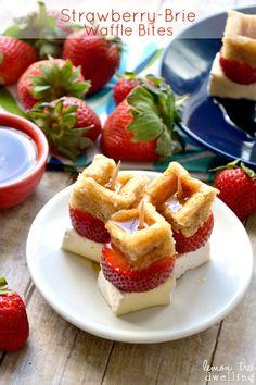 Strawberry-Brie Waffle Bites - Lemon Tree Dwelling