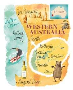 Perth and West Australia map by Scott Jessop.