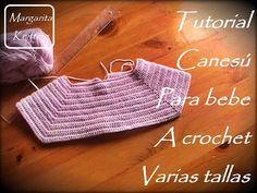 Tutorial canesú para bebe a crochet varias tallas (diestro) - YouTube