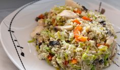 Bulgur with mushrooms and veggies. Need to cook it again.