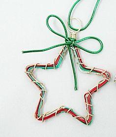 Star Ornament Handmade wire star ornament by IsleOfAgape on Etsy, $12.00