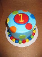 Primary Colors Birthday Cake
