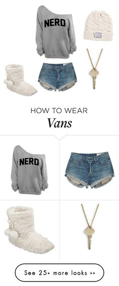 """Nerd"" by erikacarrillo on Polyvore featuring rag & bone, Vans and The Giving Keys"