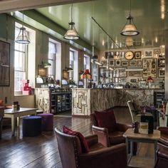 The Cosy Club, Exeter - The latest Cosy Club outlet from Bristol-based bar operators Loungers Ltd, impressively housed in a wing of the old Dean Clarke hospital in Exeter, England.  A variety of our reclaimed lighting has been employed, including some of the original...