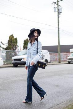 Von Vogue: 70's Flares | A Personal Style Blog by Claire Liu http://www.vonvogue.com/ #paigedenim #zara #sophiehulme #ootd #denimondenim