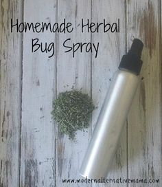 Simple homemade herbal bug spray that really works -- only three ingredients!  Completely safe for skin (even little ones).