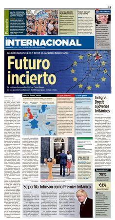 Newspaper design, layout, newspaper,print design, diseño editorial, periódico, especial, Brexit, brexit, Inglaterra