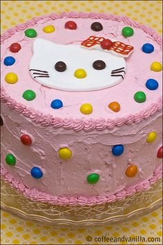 Hello Kitty Strawberry Banana and Chocolate Sponge Cake