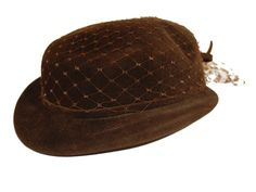 Vintage Brown Riding Hat  Gene Doris by MadgesHatBox on Etsy, $29.00