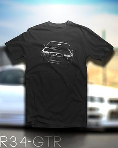New Nissan Skyline GTR R34 Shirt by JollyTees on Etsy