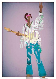 Jimi Hendrix by Pete Ware