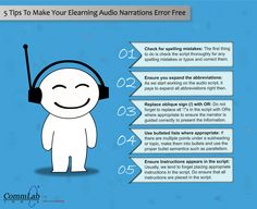 5 Tips to Make your E-learning Audio Narrations Error Free – An Infographic
