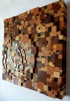 art by CDeK from Etsy in 2010.  I want to recreate something similar to this with wood scraps.