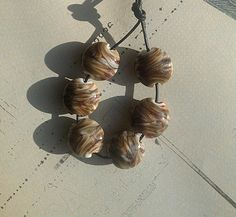 Coffee Cream  - set of Lampwork Glass Beads £9.00