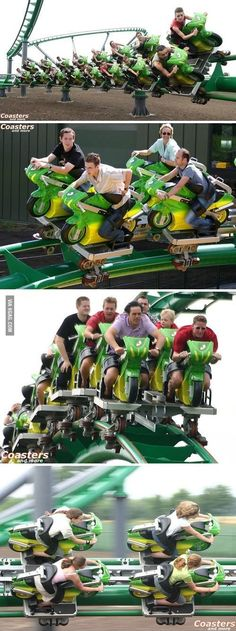 Roller Coaster with Motorcycles... How COOOOOL and scary is this???? :)