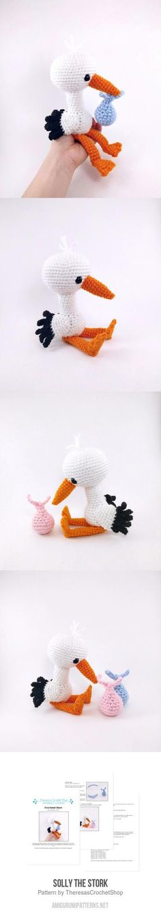 Solly the Stork amigurumi pattern