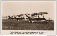 RP: The FAIREY III.F. airplanes , War 1914-18 - Delcampe.com